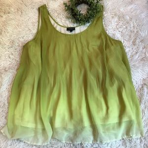 LANE BRYANT ** Lime Accordian Tank